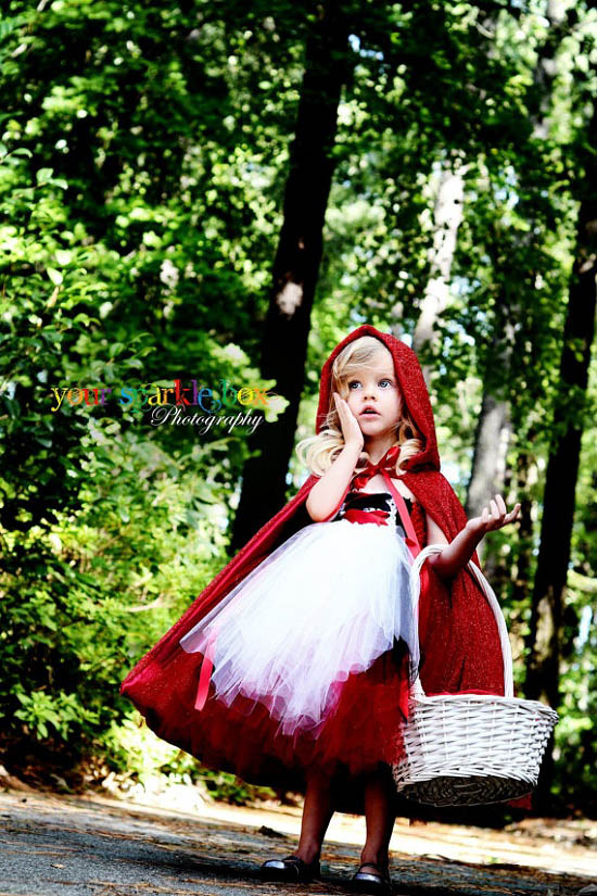 red riding hood tutu dress by YourSparkleBox